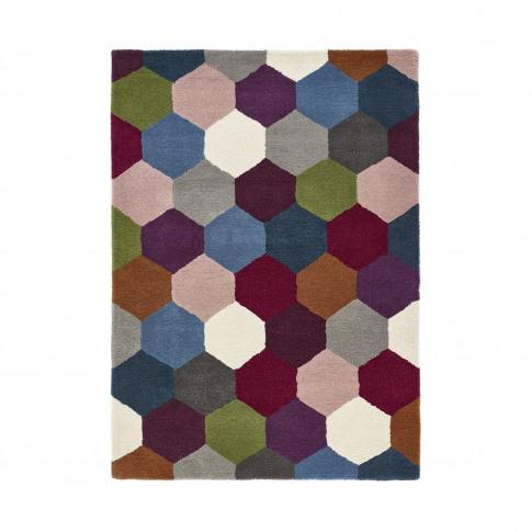 Ripley Hexagon Multi Coloured Rug 120x170cm