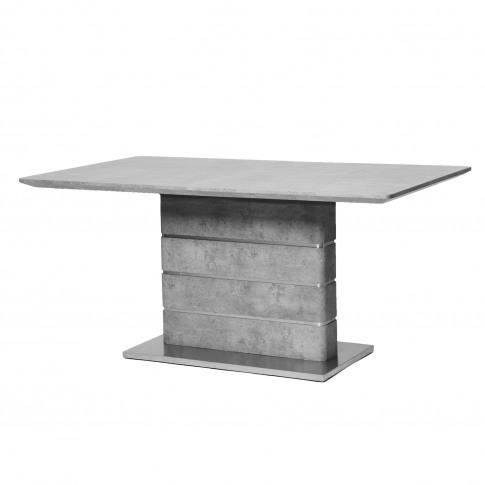 Dining Table In Grey Concrete Effect - Seats 6 - Etan