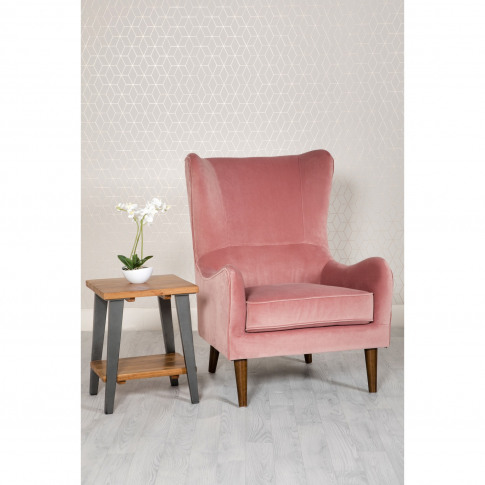 Pink Velvet Accent Chair - Aimie