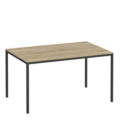 Small Oak Effect Dining Table With Black Legs