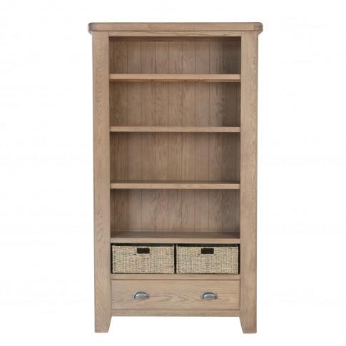 Large Bookcase Smoked Oak
