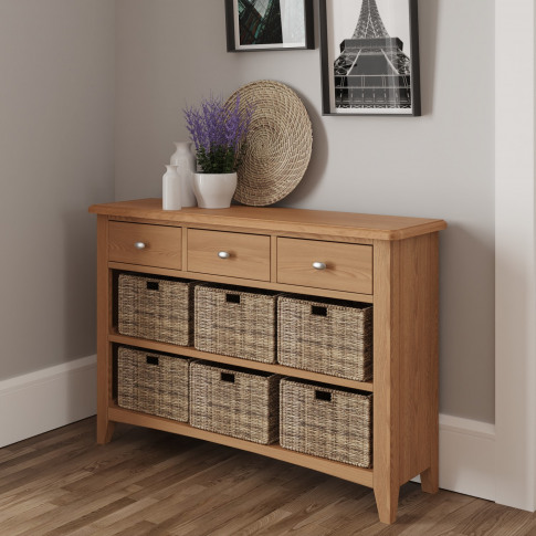 Bourton Light Oak Storage Unit With 9 Drawers