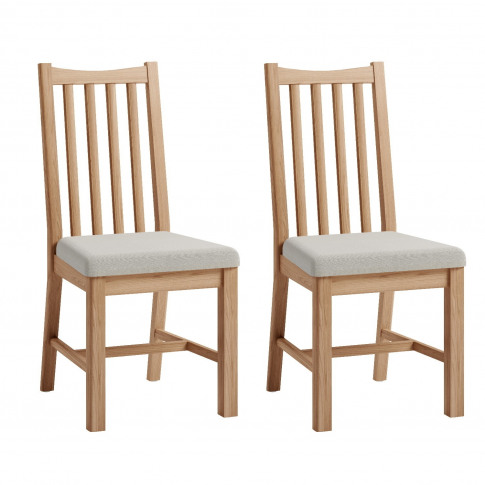 Bourton Solid Oak Dining Chairs With Ladder Backs