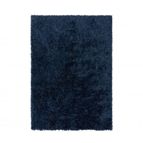 Dazzle Midnight Blue Rug With Sparkles 160 X 230cm -...