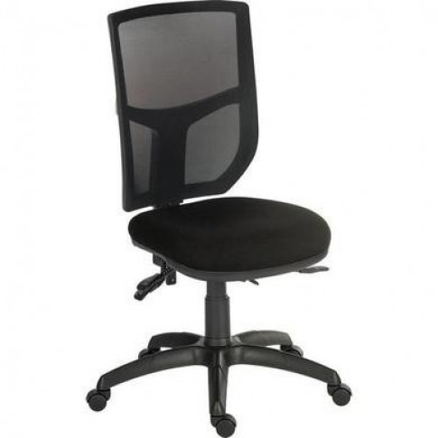 Ergo Black Office Chair With High Mesh Backrest