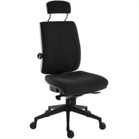 Ergo Black Fabric Office Chair