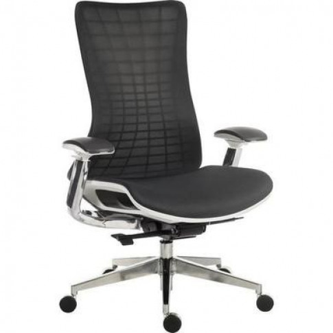 Quantum Mesh Office Chair With White Frame