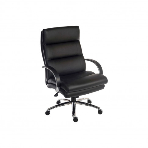 Samson Black Faux Leather Office Chair With Deep Fill Cushions