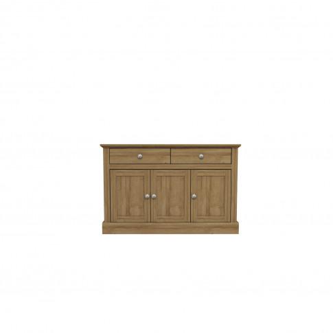 Devon Sideboard In Oak Effect With 3 Doors & 2 Drawers