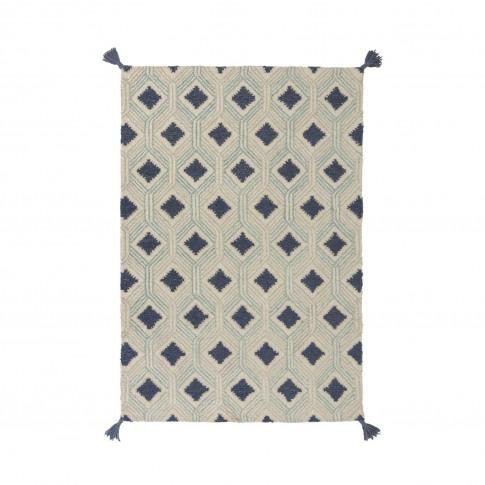 Marco Blue Wool Rug 120x170cm - Flair