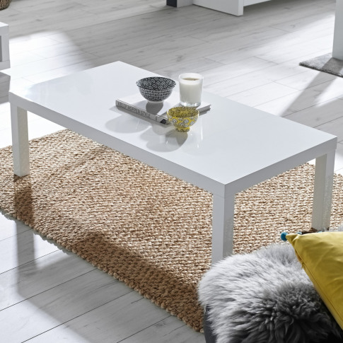 White Gloss Coffee Table - Rectangular - Puro