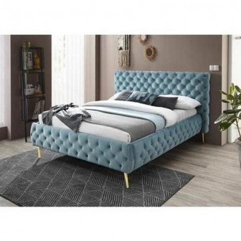 Paislee Buttoned Headboard And Frame King Size Bed I...