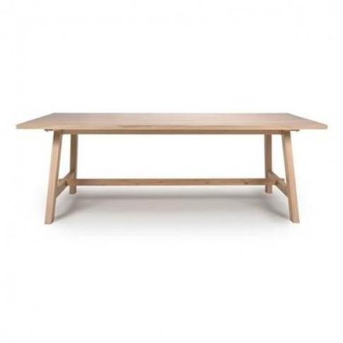 Marshall Light Oak Dining Table 180cm - Seats 6