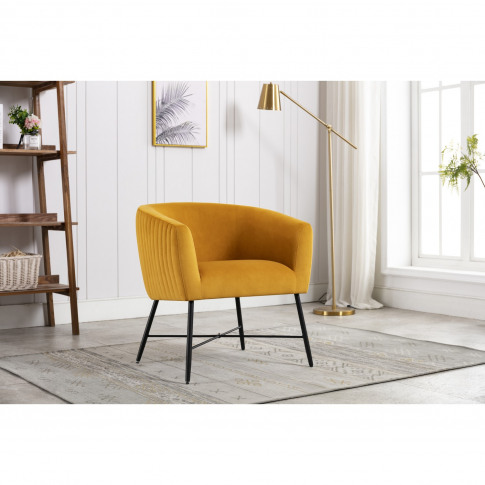 Yellow Accent Chairs With Black Legs - Zara