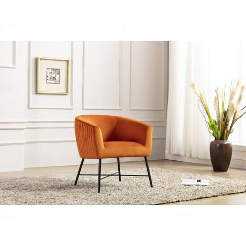 Orange Accent Chairs With Black Legs - Zara