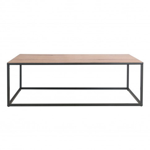 Industrial Large Coffee Table With Black Frame