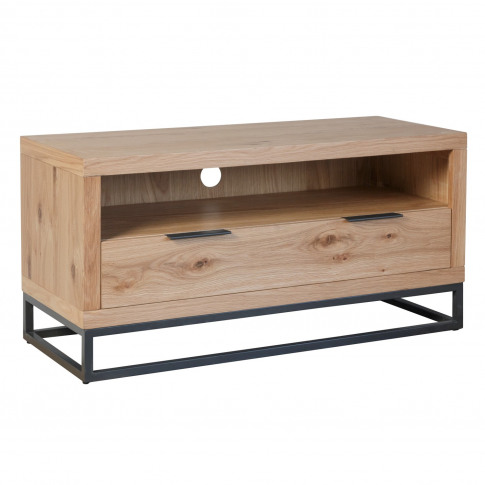 Industrial Small Tv Unit With Black Legs