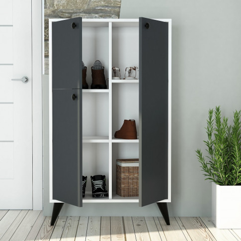 Grey And White Sideboard With Storage