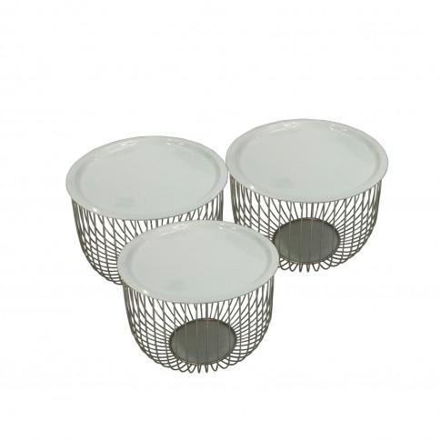Aurora Boutique Teddi Nesting Side Table Set