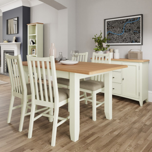 Bourton Large Extending Dining Table In White And Li...