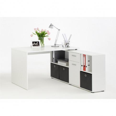 Lex Corner Combination Desk - White
