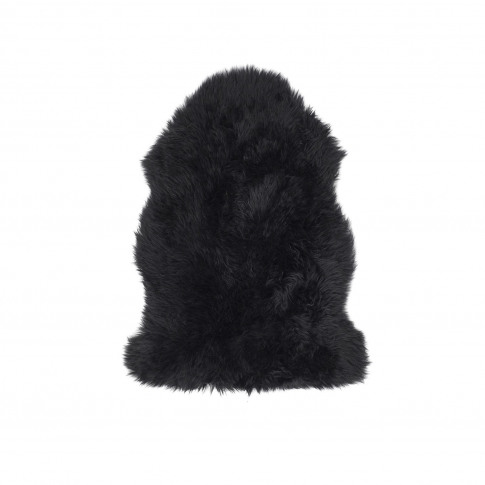 Ripley Genuine Sheepskin Black Rug - Single 95x65cm