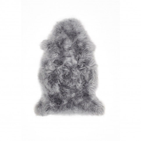 Ripley Genuine Sheepskin Grey Rug - Single 95x65cm