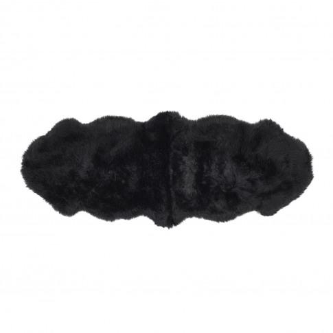 Ripley Genuine Sheepskin Black Rug - Double 175x70cm