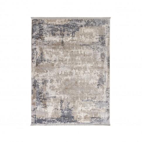 Ripley Vintage Distressed Fringed Rug In Grey 120x170