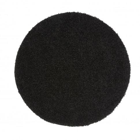 Ripley Stain Resistant Circle Black Rug - 100x100cm