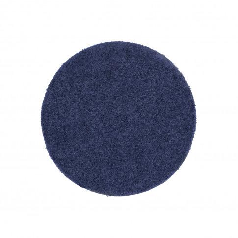 Ripley Stain Resistant Circle Dark Blue Rug - 100x100cm
