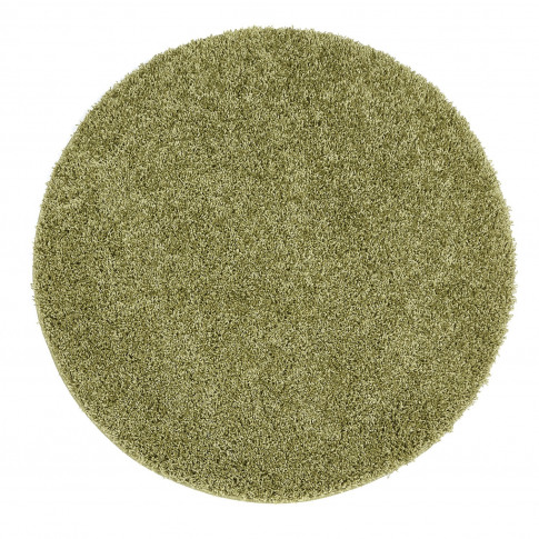 Ripley Stain Resistant Circle Olive Green Rug - 100x...
