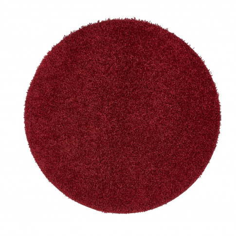 Ripley Stain Resistant Circle Red Rug - 100x100cm
