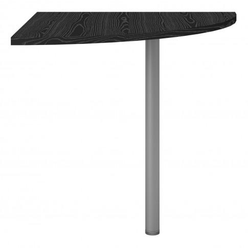 Prima Corner Desk Top In Black Woodgrain With White Legs