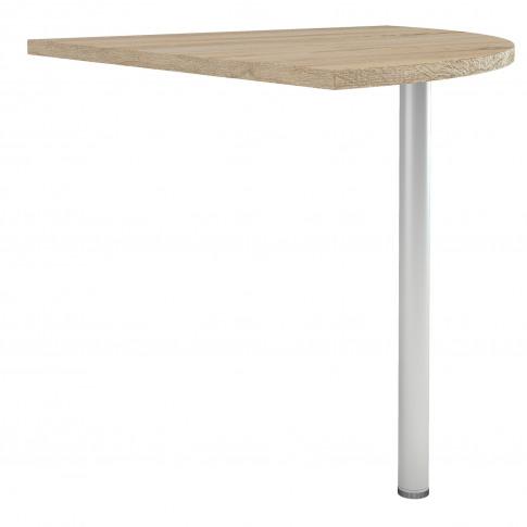 Prima Corner Desk Top In Oak With Silver Grey Steel ...