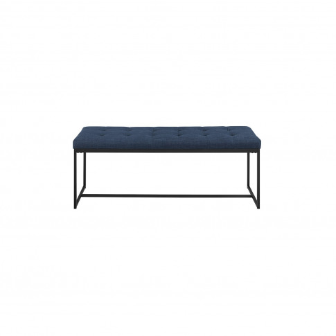 Foster Upholstered Tufted Hallway Bench In Blue