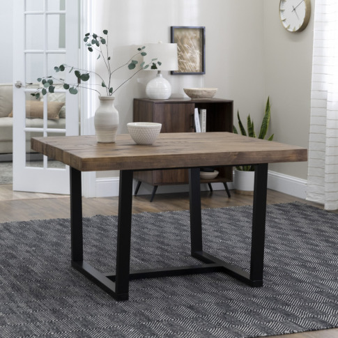Foster Distressed Solid Wood Dining Table In Reclaim...