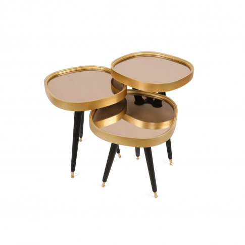 Gold And Black Nesting Side Tables - Alys