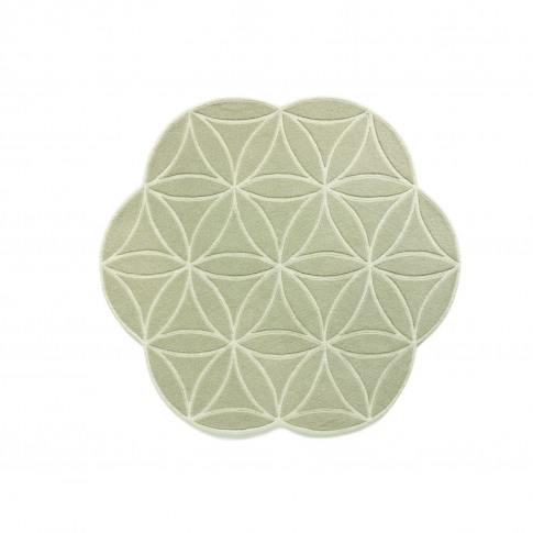 Bloom Pale Green Wool Rug 160x160cm - Ripley