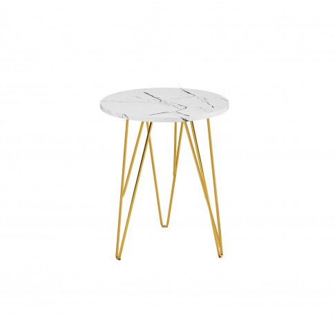 Lpd Fusion Lamp Table Top In White Marble With Gold ...