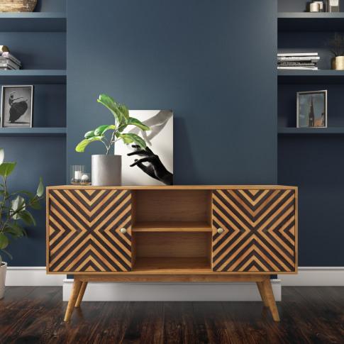 Freya Solid Wood Sideboard With Storage Cupboards - ...