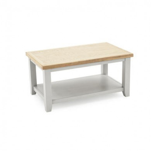 Ferndale Grey & Solid Oak Coffee Table - Two Tone