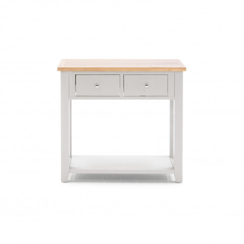 Ferndale Grey & Solid Oak Console Table - Two Tone