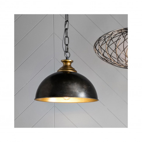 Black Pendant Light With Metal Shade - Barletta