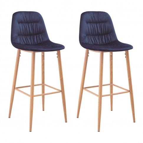 Lpd Set Of 2 Harper Barstools In Blue