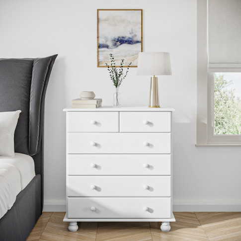 Hamilton 2+4 Chest Of Drawers In White