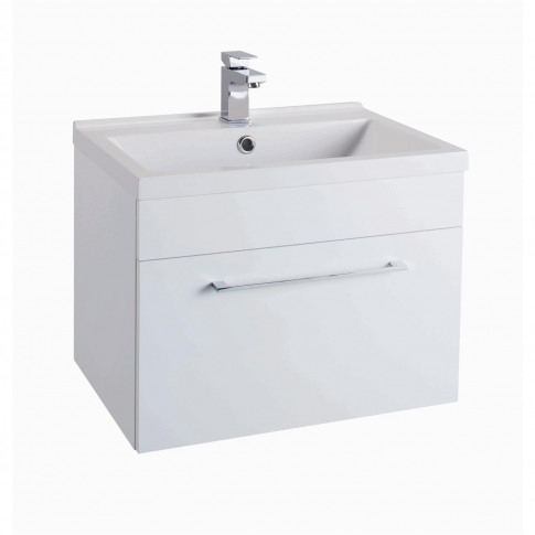 White Wall Hung Bathroom Vanity Unit - Without Basin...