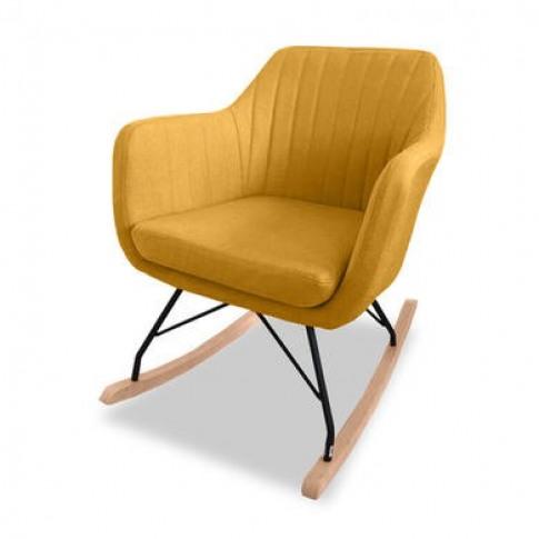 Vida Living Rocking Chair In Mustard Yellow - Katell