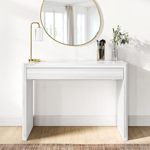 Lexi White High Gloss Dressing Table