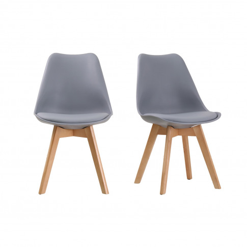 Lpd Louvre Grey Pair Of Dining Chairs